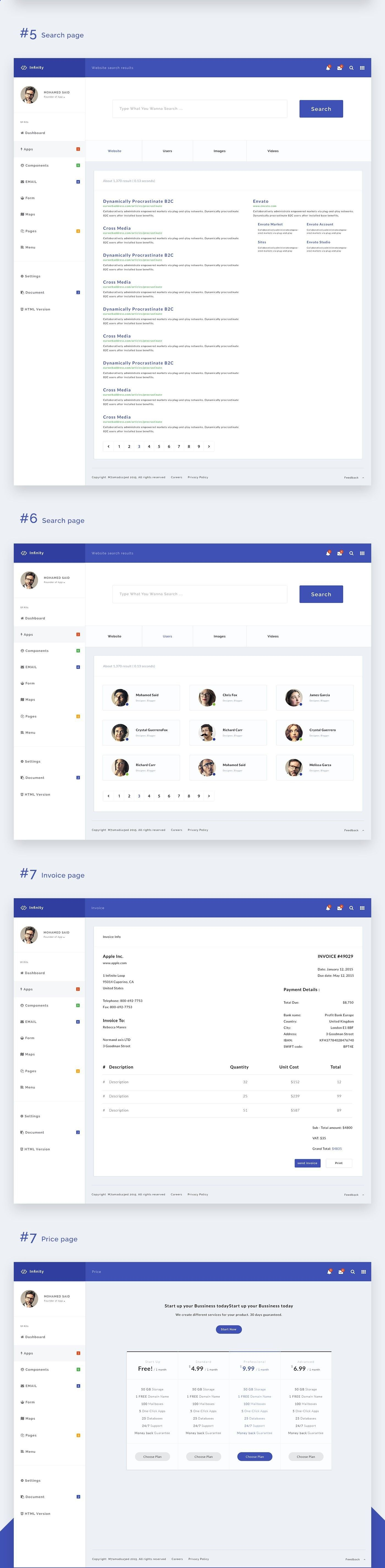 Invoice Page New Fully Responsive And Full Featured Web App And Admin Template .