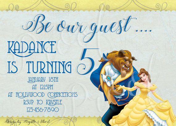 Beauty and the Beast Birthday Invitation by DesignsByKrystleA