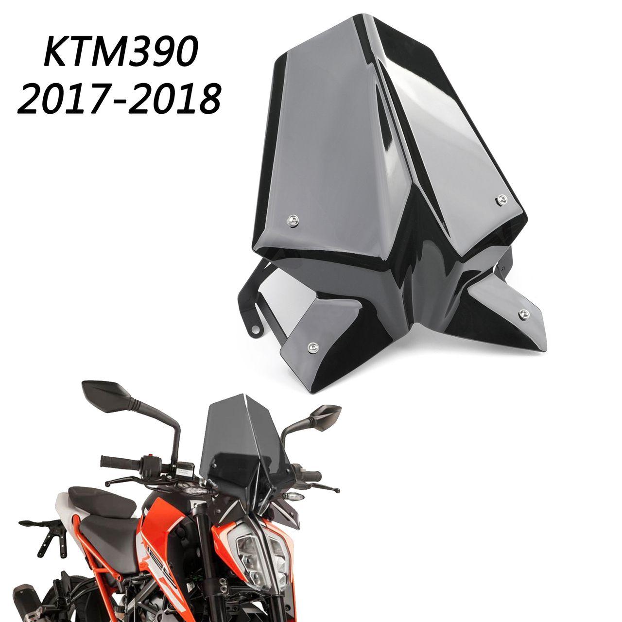 Windscreen Windshield Shield With Holder For 2017 2019 Duke 125 390 Black Ktm Duke Ktm Duke Bike