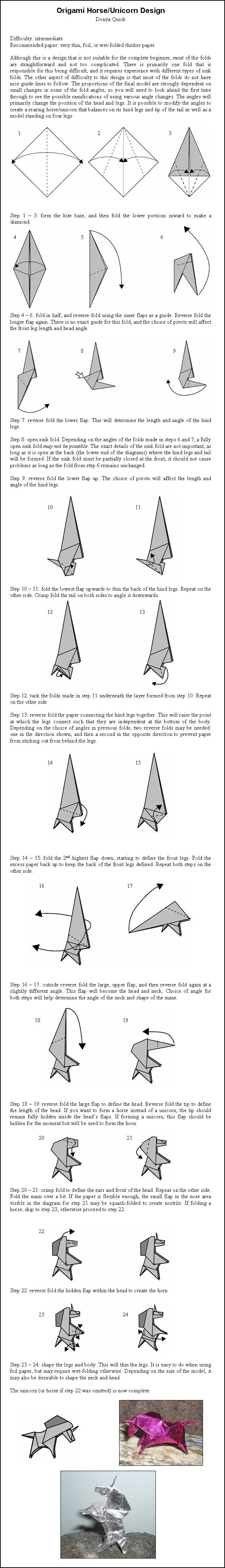 Photo of Origami Unicorn – Anleitung von DonyaQuick auf DeviantArt