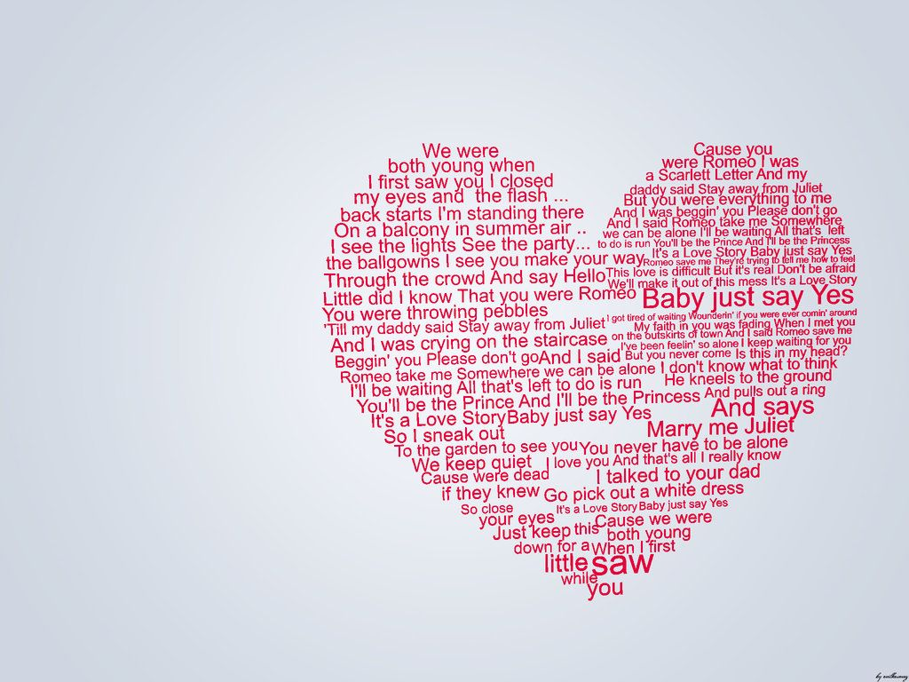 The Lyrics To Taylor Swifts 'Love Story i have some awesome memories that go along with this song.