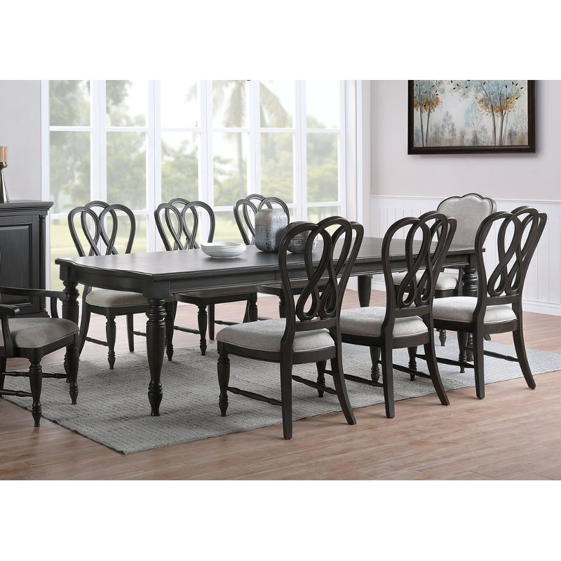 Traditional Black Dining Room Table Natchez Trace Black Dining