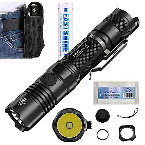 Introducing Bundle Nitecore P12gt 1000 Lumens Cree Xpl Hi V3 Led Tactical Flashlight Handheld Searchlight By E35 3 Tactical Flashlight Flashlight Battery Cases