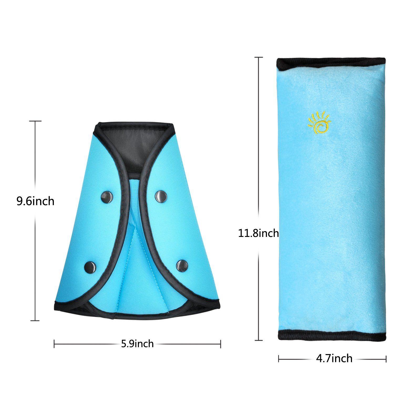 Timorn car Seat Belt Safety Adjuster Seat Belt Shoulder Pads car