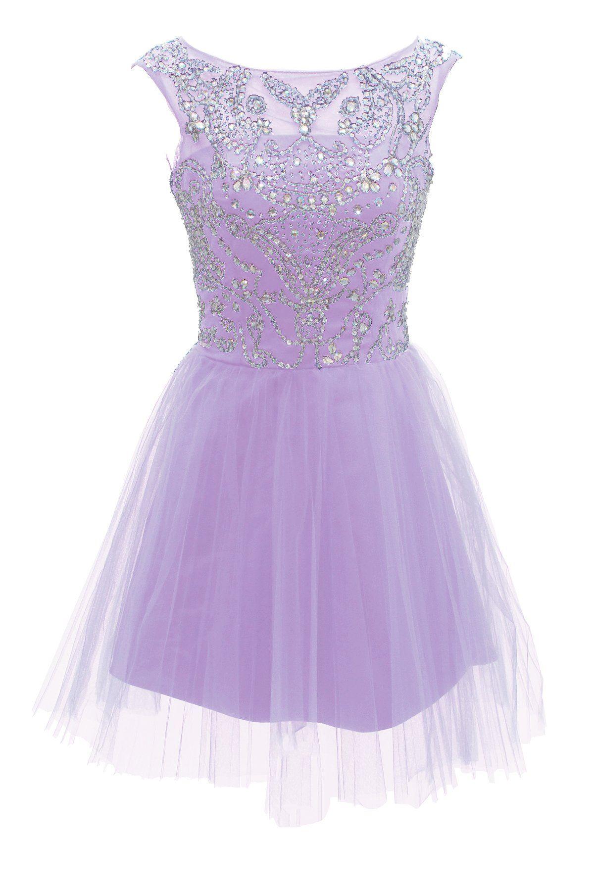 Dressystar Kurz Lavendel Ballkleid/Abendkleid Ballkleider Lavendel ...