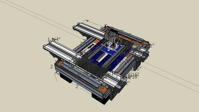 Router Sled Assembled View - 3D Warehouse