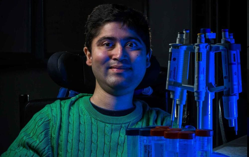 Thanks to generous donor support for scholarships, PhD student Savant Thakur is now working to find a cure for the disorder that has confined him to a wheelchair. #believemelb