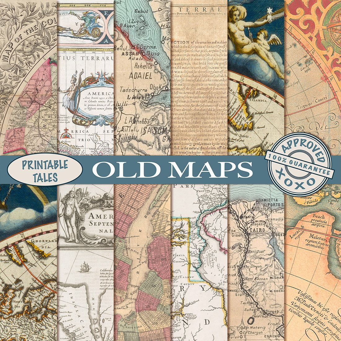 Pin by printabletales on etsy pinterest map america vintage old maps digital papers vintage map download grungy parchment paper old world map nautical antique historical map america europe egypt gumiabroncs Gallery
