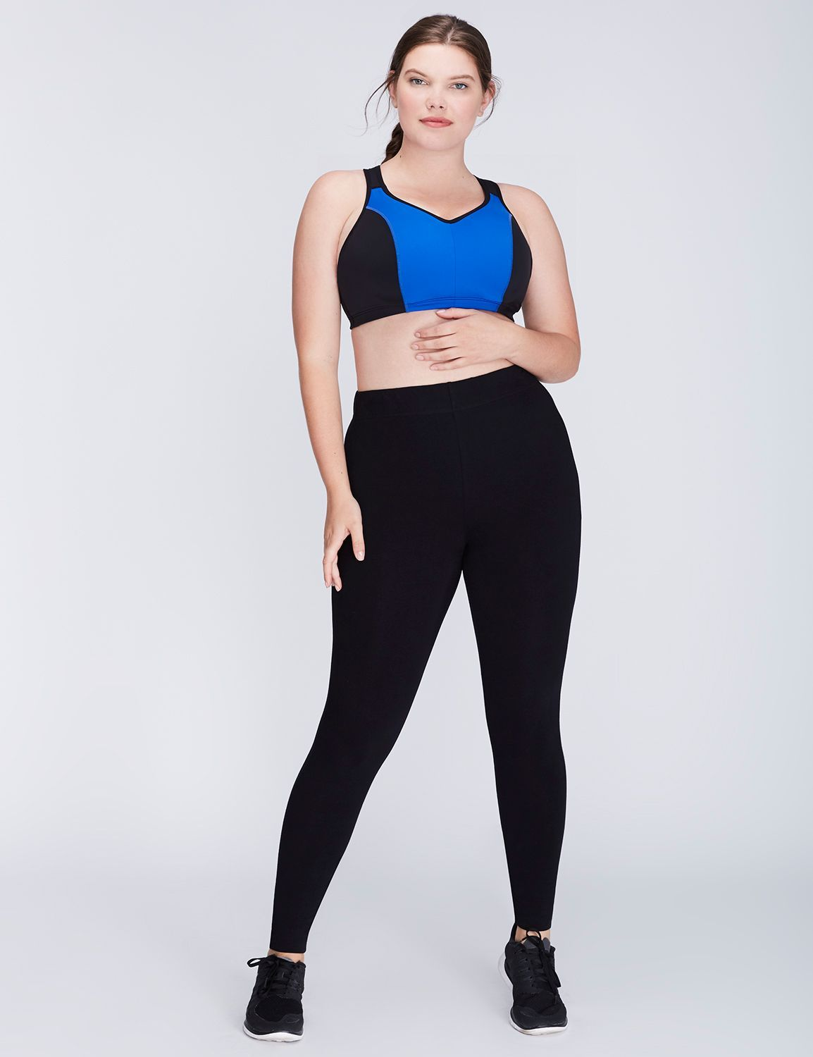 Molded Sport Bra with Triple Back Straps Plus size