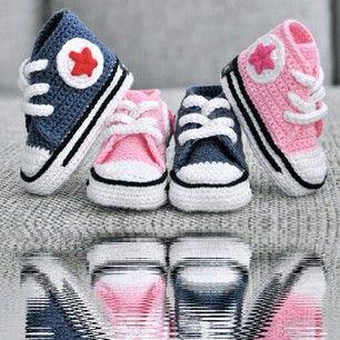 zapatos converse de bebe tejidos