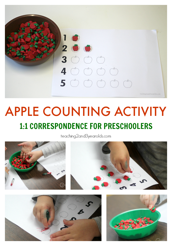 Apple Counting Activity For Preschoolers With Free
