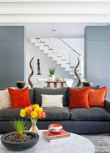 Dark Grey Sofa Living Room Decorating Ideas Luvne Com Best Interior Design Blogs Living Room Orange Living Room Color Schemes Living Room Colors