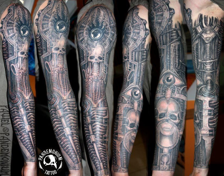TATTOOS BY PAVEL PANDEMONIUM........SOURCE H.R. GIGER ... H.r. Giger Tattoo