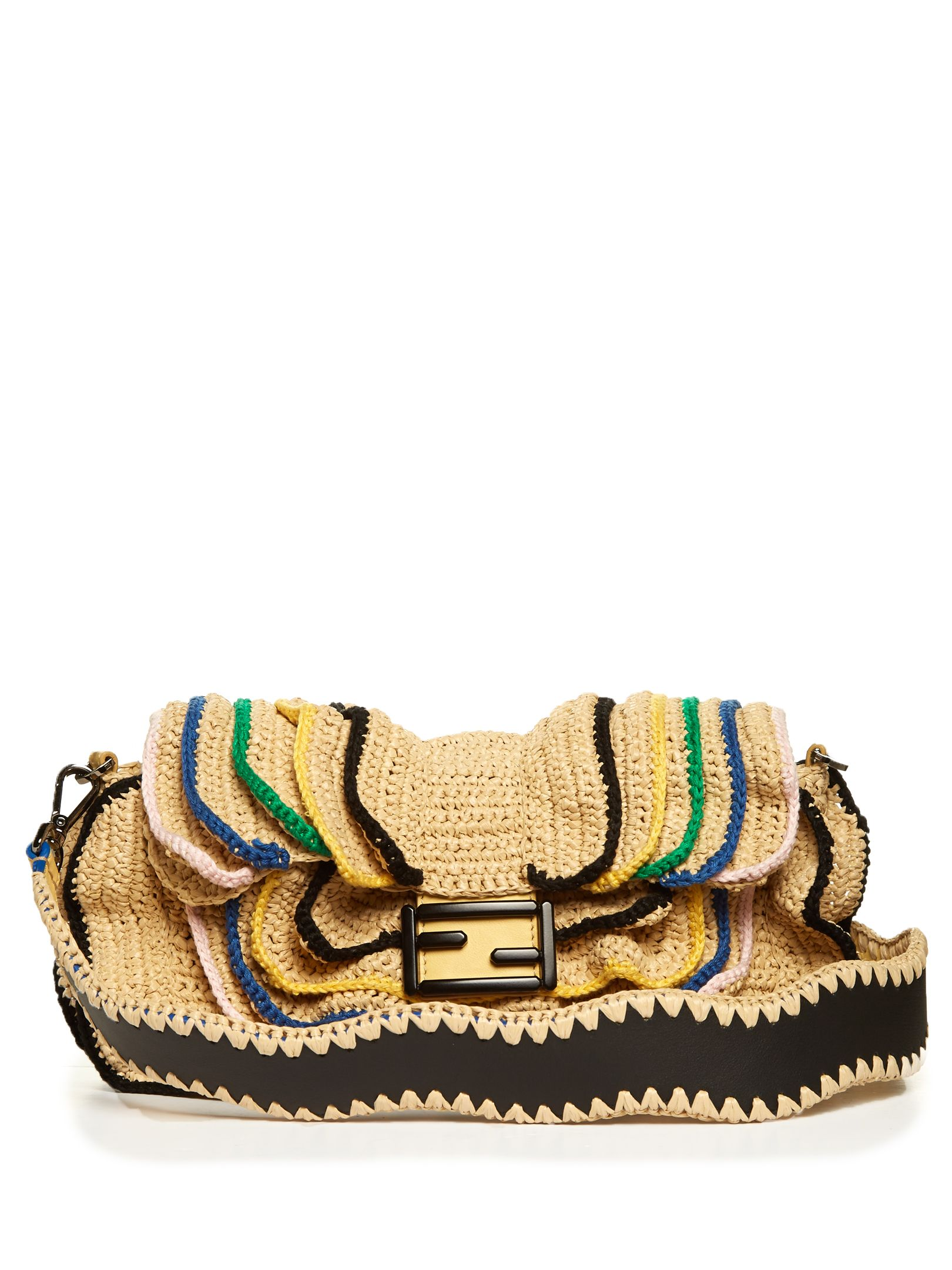 ea3bf54c1c97 Click here to buy Fendi Baguette Wave raffia cross-body bag at  MATCHESFASHION.COM