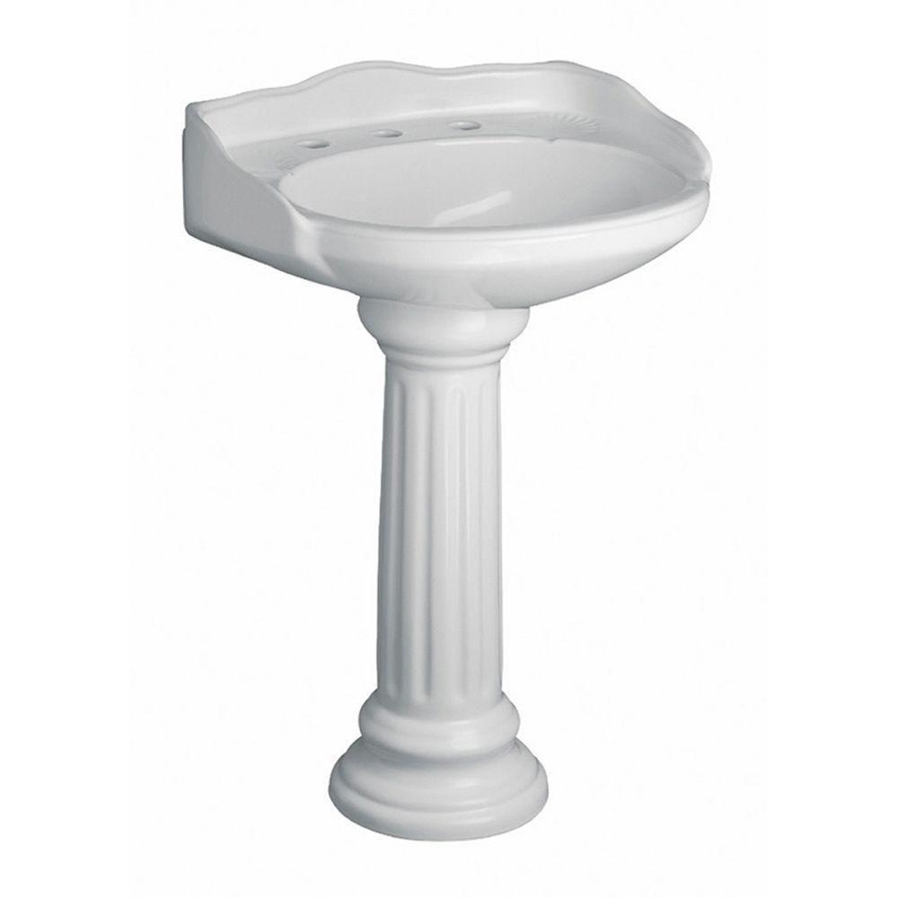 Pegasus Vicki 22 In Pedestal Combo Bathroom Sink In White 3 654wh The Home Depot Pedestal Sink Bathroom Sink Pedestal Bathroom Sink [ 1000 x 1000 Pixel ]