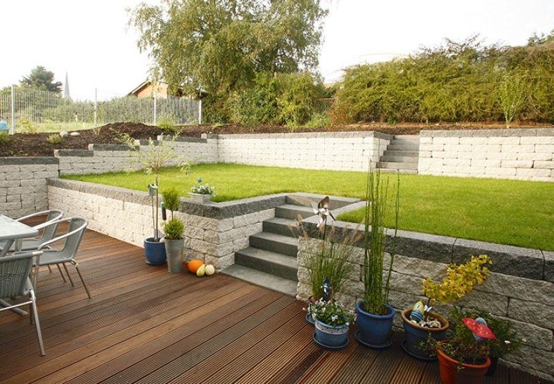 bildergebnis für gartengestaltung hanglage gabionen | hochbeet, Terrassen ideen