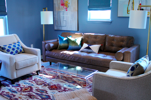 Owner @Beth Keim of Lucy and Company designed this family room using the Surya Banshee Rug. (BAN-3330)
