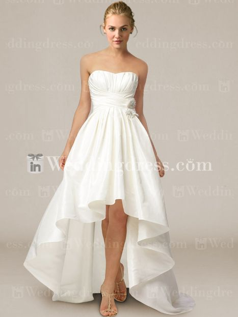Strapless High-Low Ball Gown Wedding Dress BC360 | Wedding!, High ...