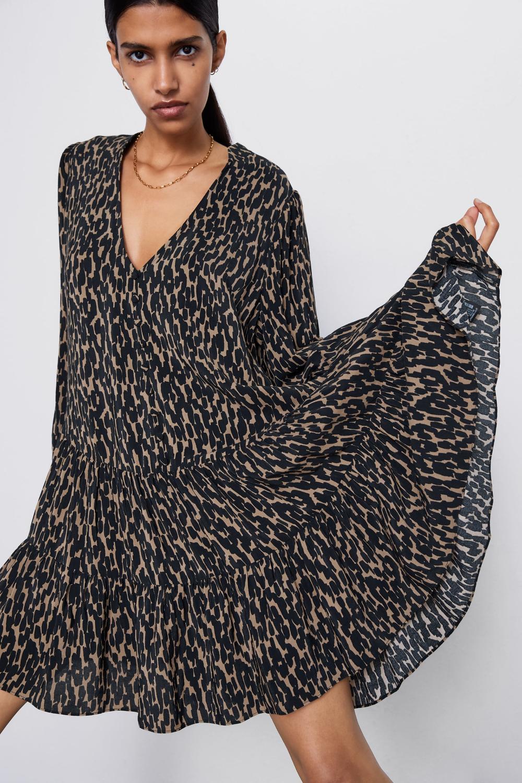 ANIMAL PRINT DRESS - NEW IN-WOMAN | ZARA United Kingdom ...