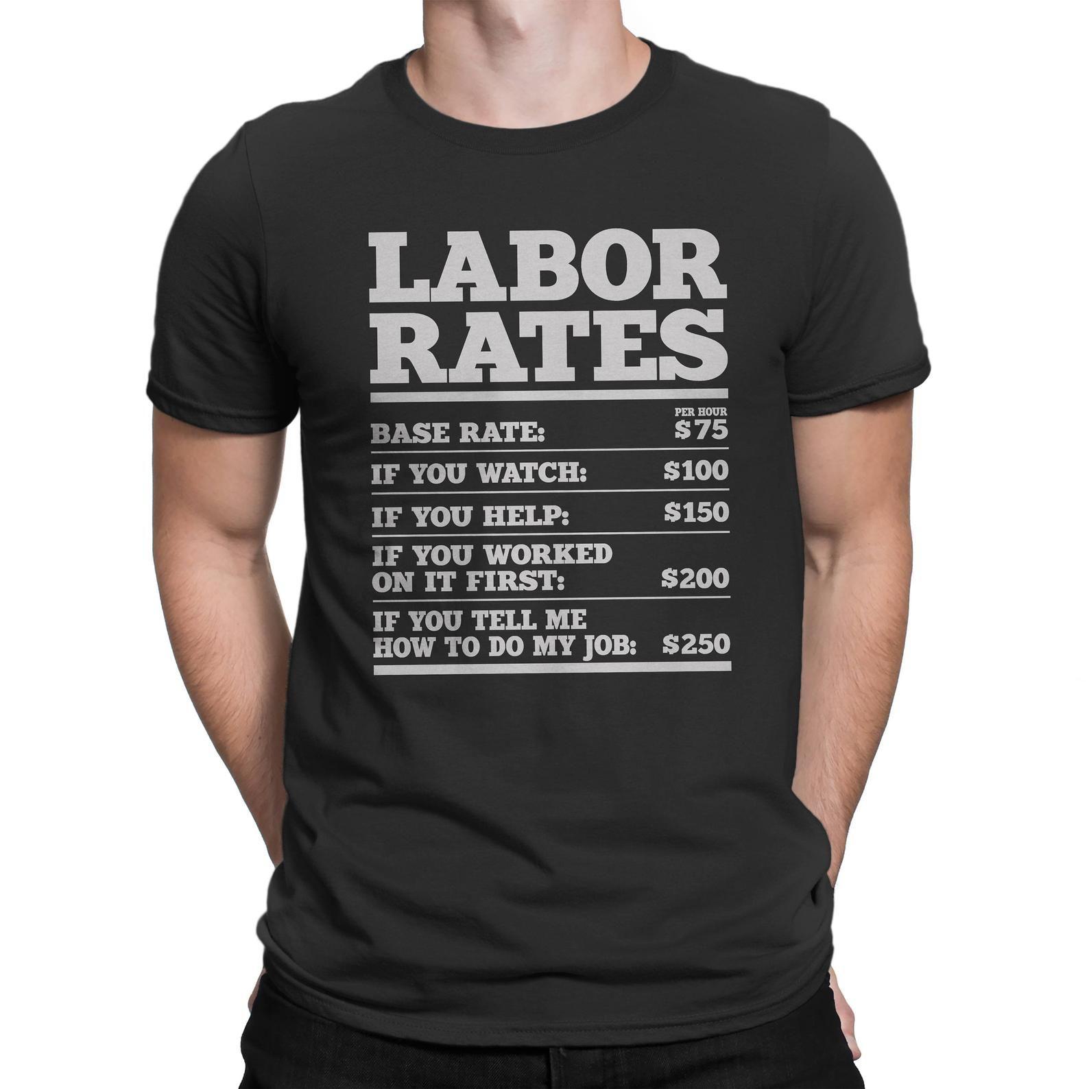 Plumber Hourly Rate Funny Plumbing Worker Labor Men Gifts ...  Funny Plumber Labor Rate Signs