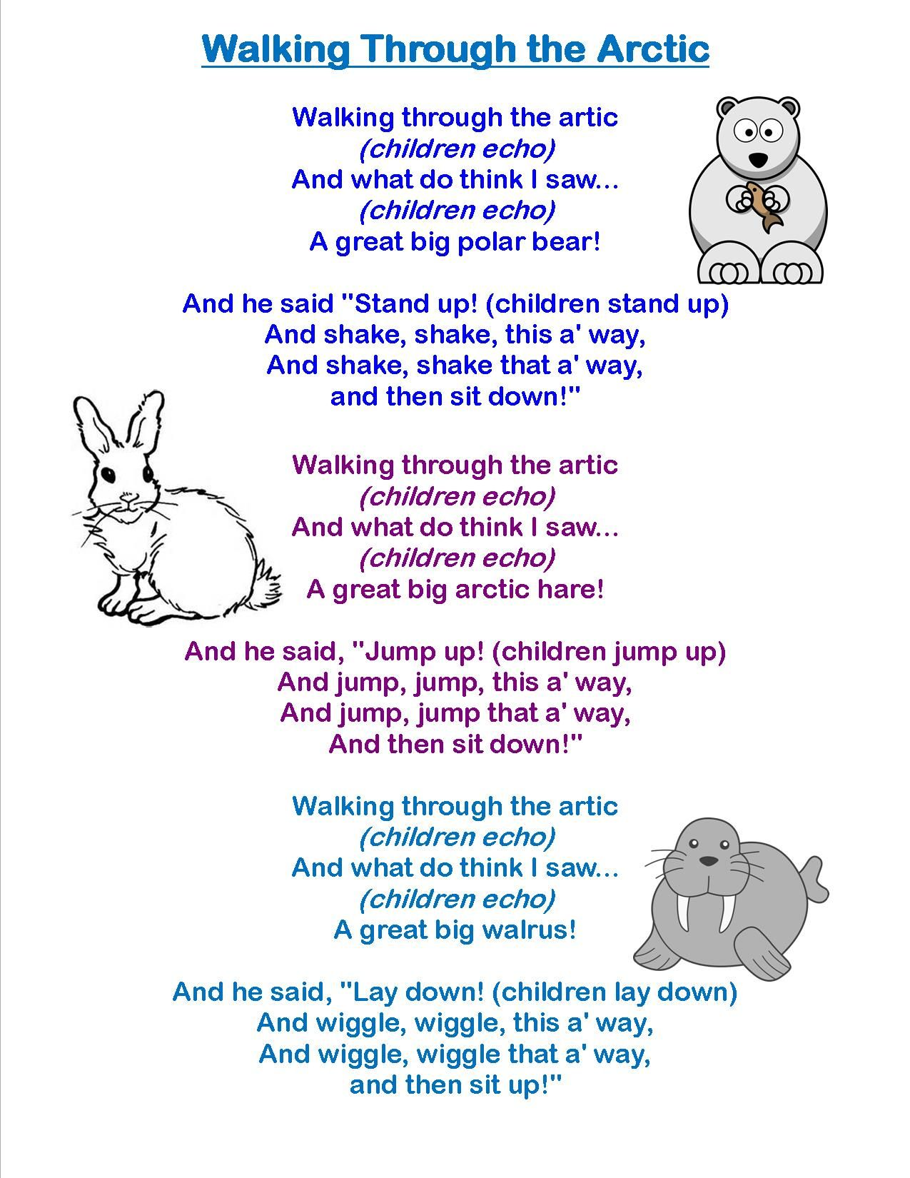 Image Result For Arctic Animals Songs And Fingerplays