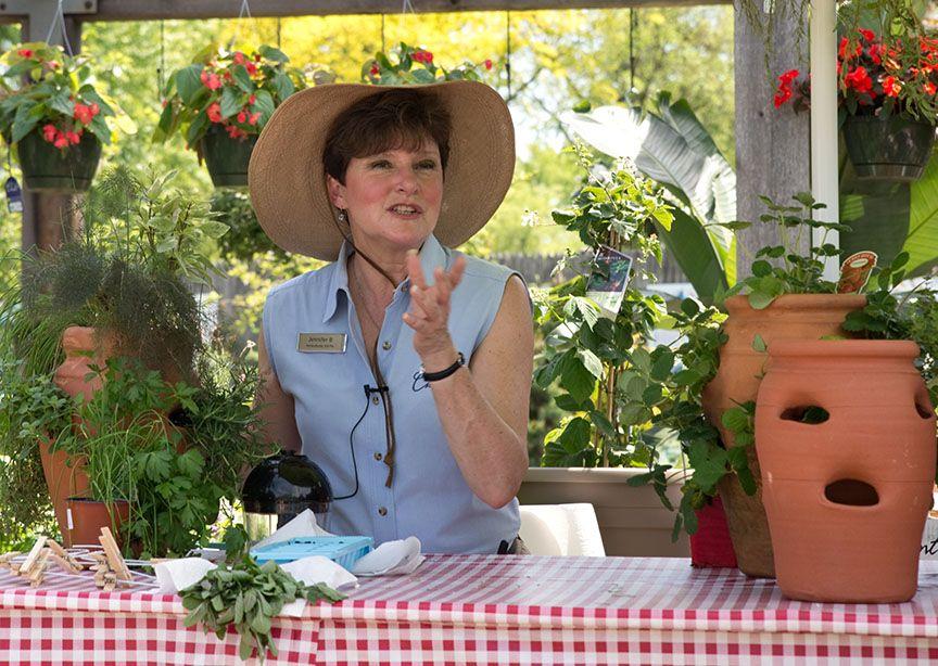 Jennifer's presentation harvesting and preserving herbs