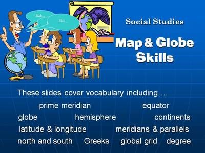 Power Point and Study Guide  Intermediate Map and Globe Skills