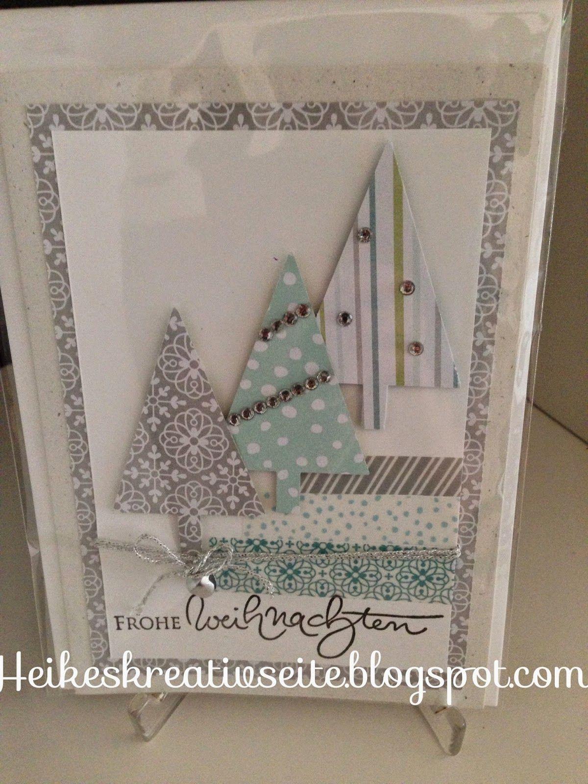 Außergewöhnlich Edle Weihnachtskarten Basteln Ideen Von Heikes Kreativseite