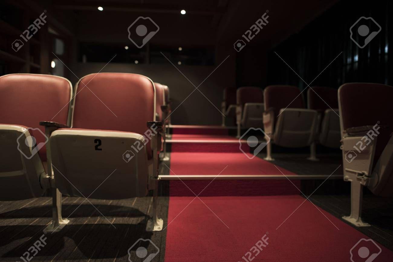 Empty Rows In A Movie Theatre Stock Photo Affiliate Movie Rows Empty Photo Stock In 2020 Movie Theater