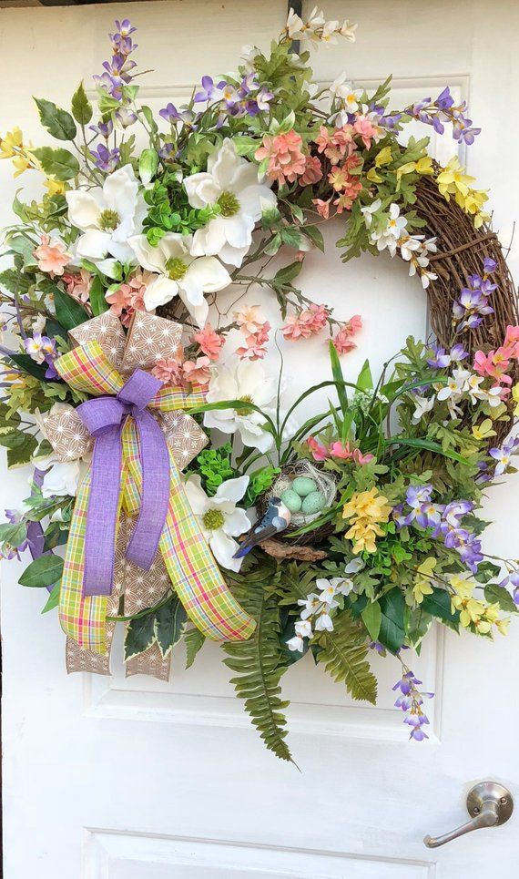 Photo of Spring Wreath, Grapevine Wreath, Magnolia Wreath, Sassy Doors Wreath,Spring Front Door Wreath, Summer Wreaths