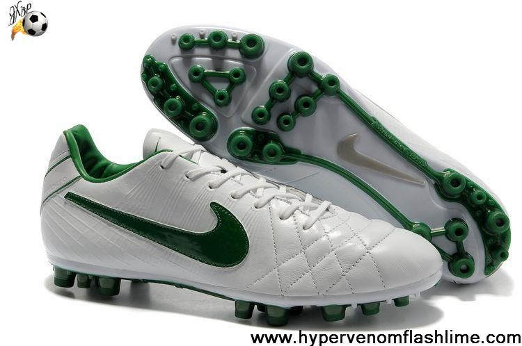New Nike Tiempo Legend IV Elite AG White-Dark Green Soccer Shoes Shop