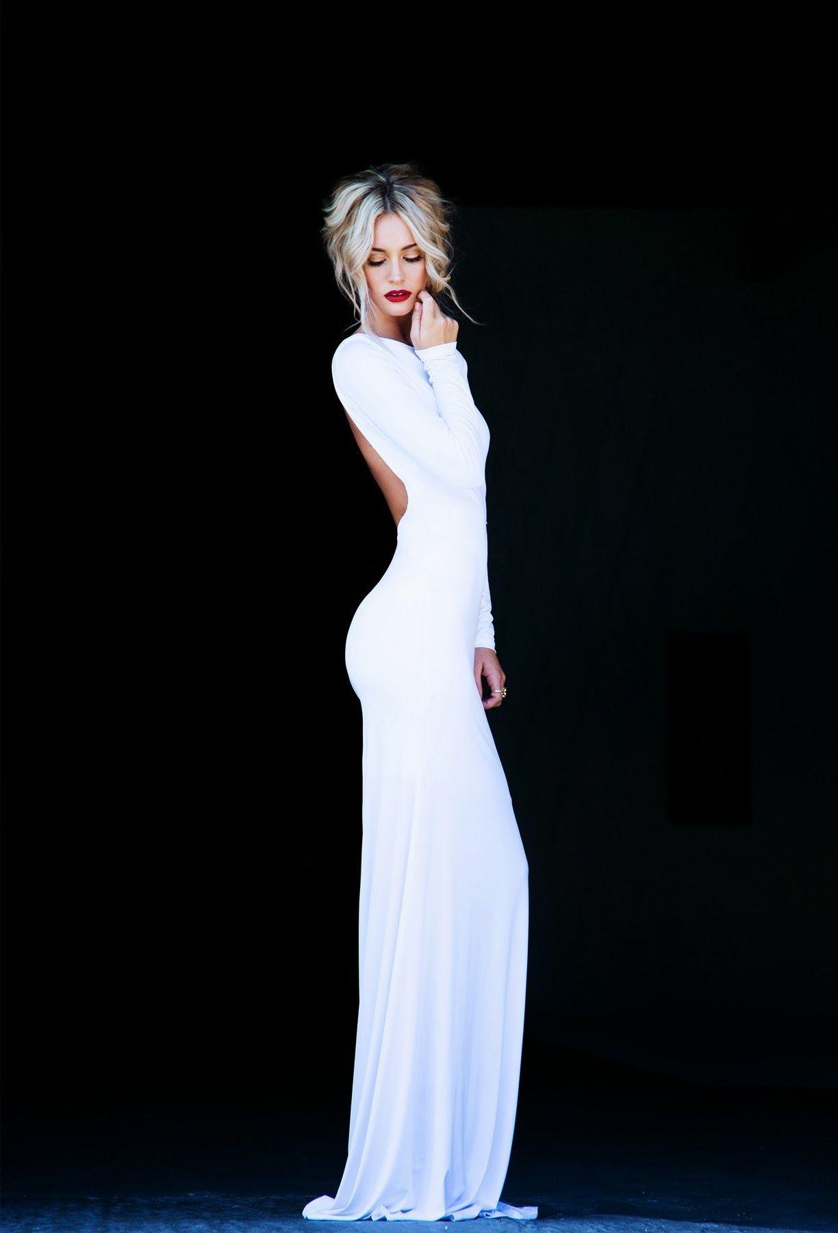 White dress graduation pinterest white long prom dresses
