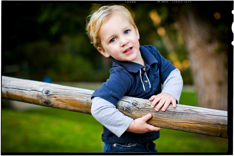 little brother at the park by orange county children's photographer marc weisberg