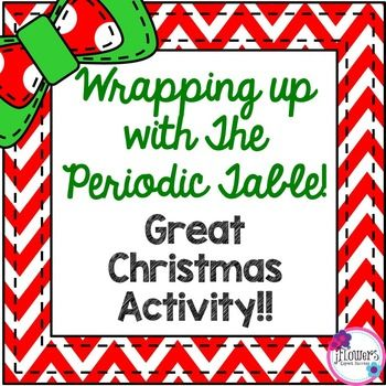 Christmas science wrapping up with the periodic table atomic great activity during christmas and for students to get more familiar with the periodic table students will need an up to date periodic table to complete urtaz Images
