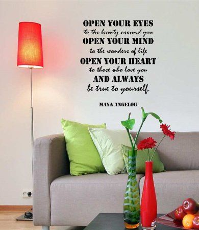 Amazon.com: Maya Angelou Quotes Inspirational Wall Decals Vinyl Wall Art: A  Wall Part 73