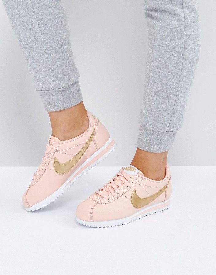 87338a767de Nike Gold Pack Cortez Trainers  asos  nike  niketrainers  trainerslife   sneakers  pink  shoes  gold  fashion  style  love  gifts  shopping   shoppingonline   ...