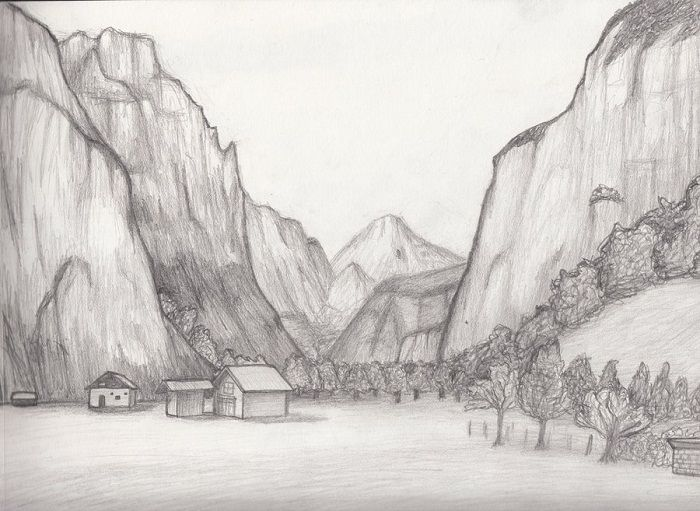 Pencil Sketches Of Nature Scenery pencil drawings ideas ...