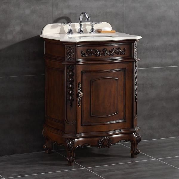 26 20 in w x 21 in d vanity in dark cherry with marble on home depot vanity id=49775
