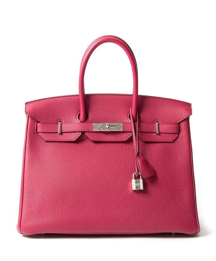 11de61d7fe Hermès Birkin 35 Togo Rubis PHW + INVOICE Buy safe online designer vintage  Band new hermes birkin 35 100% real authentic