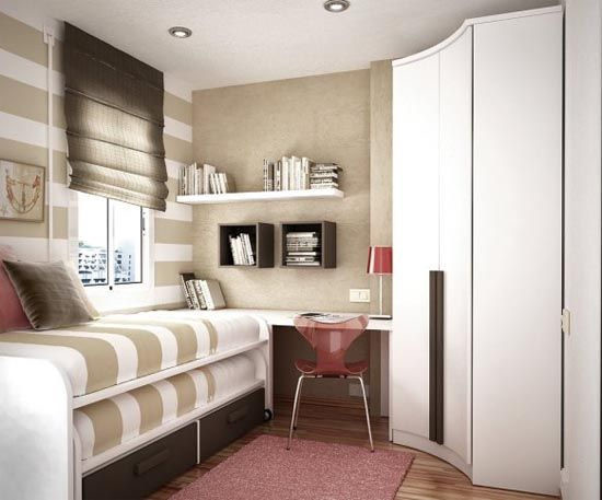 Small Space Bedroom Interior Design image detail for - ways to maximize the use of a small space
