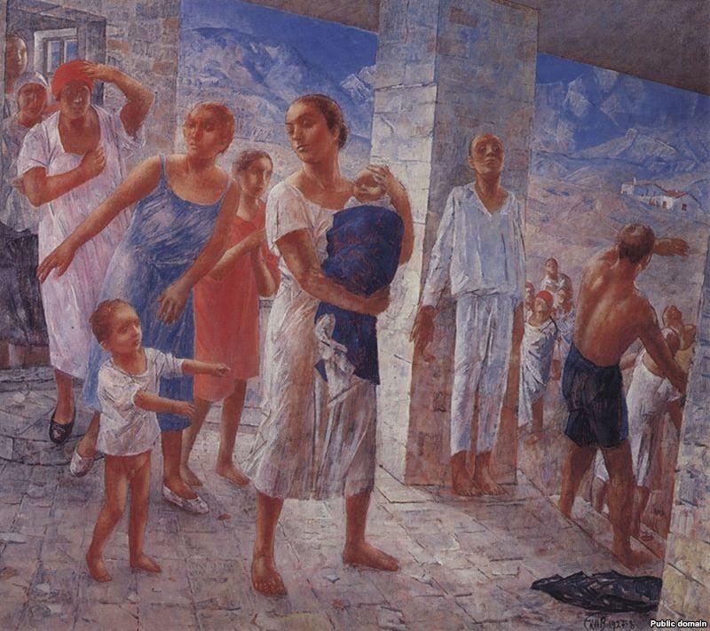 Ялтинское землетрясение 1927 года. Художник Петров-Водкин
