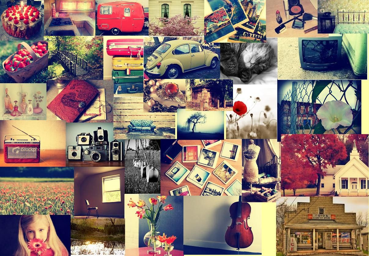 vintage fashion collage background wwwpixsharkcom