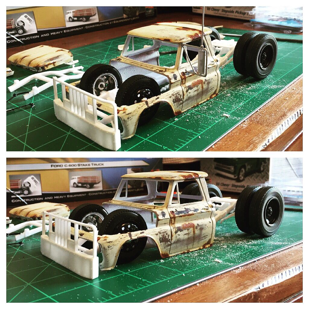 1/25 C10 towtruck I'm working on SRE Plastic model cars
