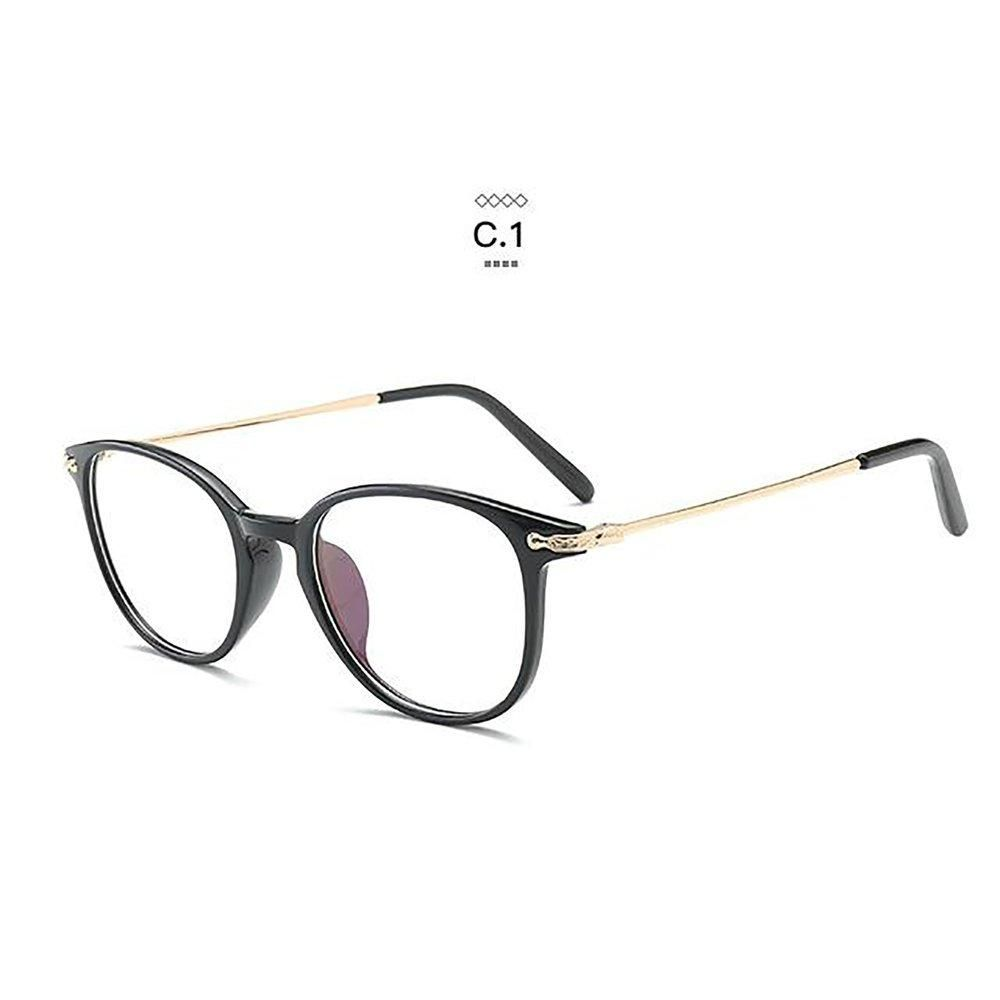 5d582ec1e714 Eyeglass Frames Retro Men Women Clear Designer Eyewear Frame Optical Eye  Glasses Gold-Black