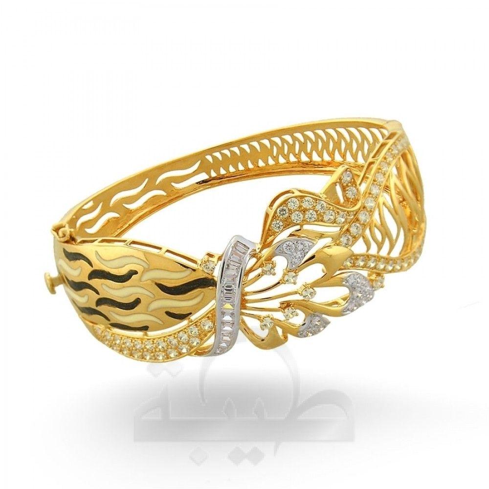 Wide Bangle-c447 - Taiba Dubai gold jewelry store online