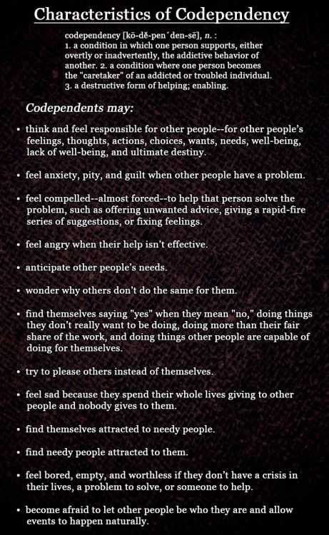 Examples of codependency