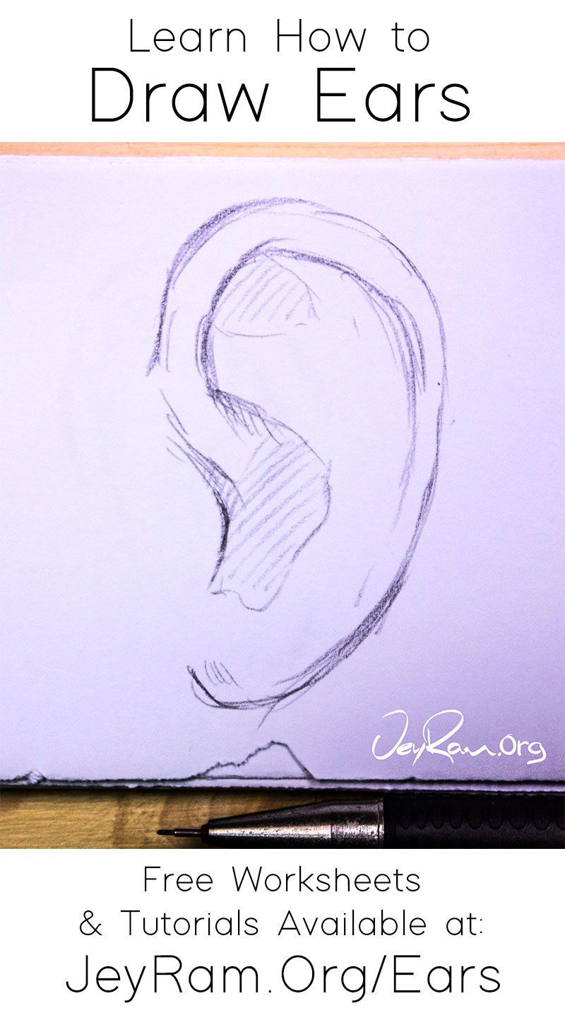 How To Draw Ears In 2020 How To Draw Ears Drawings Draw