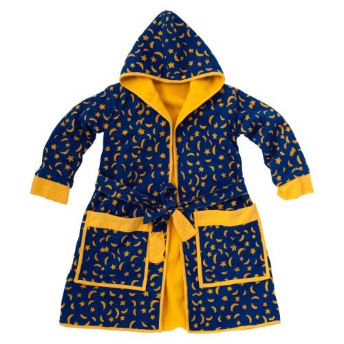 child moons and stars polar fleece robe boys and girls xl 11 14y