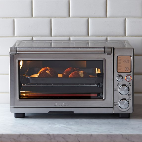Breville Smart Convection Toaster Oven Pro With Light Williams Sonoma In 2020 Smart Oven Countertop Oven Small Oven