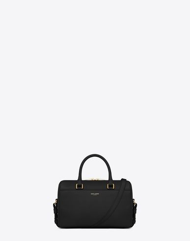 17ea8680f705 SAINT LAURENT CLASSIC BABY DUFFLE BAG IN BLACK LEATHER.  saintlaurent  bags   shoulder